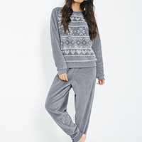 Plush Fair Isle PJ Set
