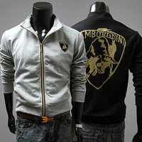 """Lamborghini"" Long Sleeve Zip-Up"