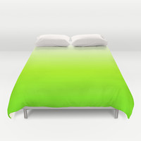 Lime Duvet Cover by Haroulita