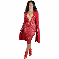 Sequins Sexy Dress Metal Christmas Party Dresses Sleeveless V Halter Split Office Dress Robe Sexy Pull Femme Hiver Bodycon Dress