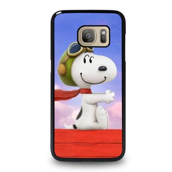 snoopy dog samsung galaxy s7 case cover  number 1