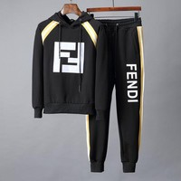 Fendi autumn and winter models trend wild outdoor running sportswear two-piece