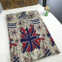 Multicolor Star and Flag Print Scarf