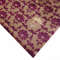 Burgundy Jacquard Silk Fabric