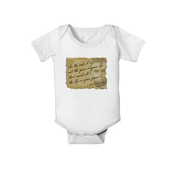 The Life In Your Years Lincoln Baby Romper Bodysuit by TooLoud