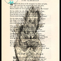 Squirrel Eating Acorns Drawing Beautifully Upcycled Vintage Dictionary Page Book Art Print, Animal Art Print