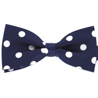 Tok Tok Designs Pre-Tied Bow Tie for Men & Teenagers (B91, Navy)