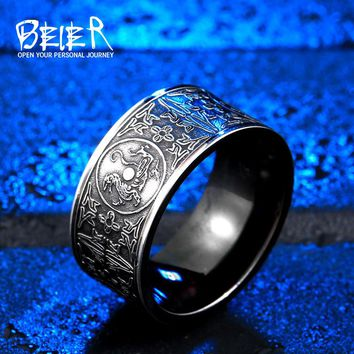 Gothic Chinese Style Men's Ring | Stainless Steel