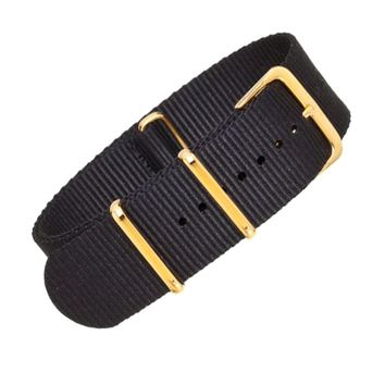 22mm Black Nylon NATO - Gold Buckle