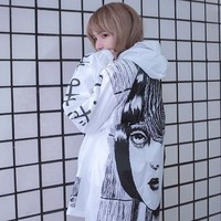 Aliexpress.com : Buy Japanese horror manga Trench Women/Men Cute Thin Thriller Cartoon Jumper Trenches for Lovers Long Autumn Rain Proof Trench Coats from Reliable jumper wear suppliers on Cute Fashion