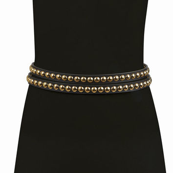 Burberry Studded Leather Wrap Belt