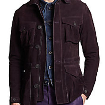 Burberry Prorsum - Suede Field Jacket - Saks Fifth Avenue Mobile