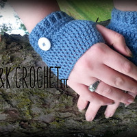 Crochet Alpaca Fingerless Gloves, Wrist Warmers, Fingerless Mittens, Steampunk Fingerless Mitts
