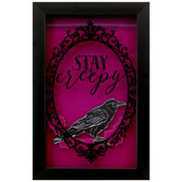 'Stay Sleepy' Purple Framed Wall Art 7 x 12-in.