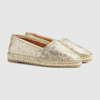 Gucci Children's metallic espadrille