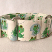 Amusement Park Frogs Martingale or Quick Release Collar