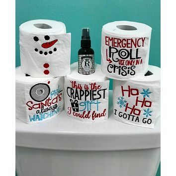 Toilet Paper Gift Set - Holiday Fun