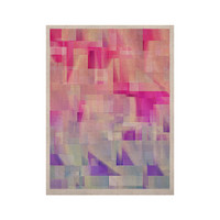 "Gabriela Fuente ""Winter Flow"" Pink Purple KESS Naturals Canvas (Frame not Included)"