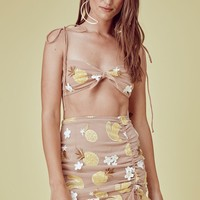 Fruitpunch Shirred Mini Skirt – For Love & Lemons