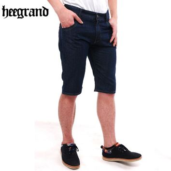 HEE GRAND Dark Blue Jeans Men Straight Denim Long Pants Loose Size Male Calf-Length Jeans MKN958