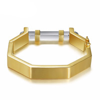 Newest Valentin Gold Plated Geometric Bangle
