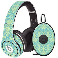 Vintage Blue Green Damask Skin for the Beats Studio Headphones & Case by skinzy.com