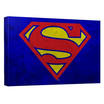 Superman - Galvanized Shield Canvas Wall Art With Back Board