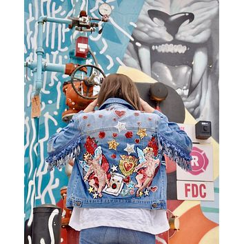 NEW Angels Believe Denim Jacket Regular