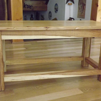 Reclaimed wood/ Bench/ Coffee table/ Rustic / Hickory/