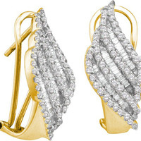Diamond Fashion Earrings in 14k Gold 1.35 ctw