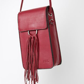 Boomer Leather Bag by POL Clothing - Red