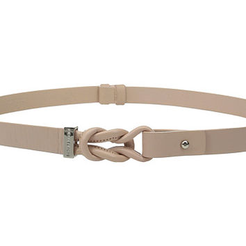 MICHAEL Michael Kors 20mm Veg Leather Belt with Knotted Front and Collar Stud Closure Pale Pink - Zappos.com Free Shipping BOTH Ways