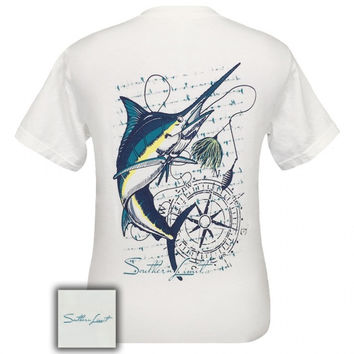 Southern Limits marlin Swordfish Fish Compass Comfort Colors Unisex T-Shirt