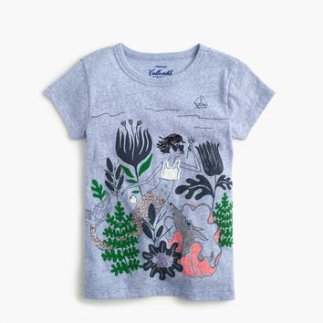 Girls' sparkly mermaid Olive and Izzy T-shirt : Girl short-sleeve t-shirts | J.Crew