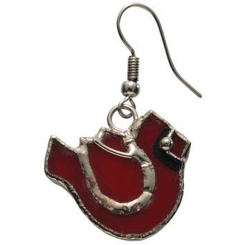 Stained Glass Cardinal Earrings