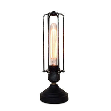 Vintage Cage Table Lamp Bedside Lamp Dimmable Lamp