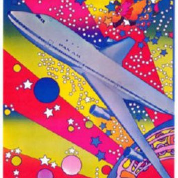 Pan Am Airplane Peter Max Art Mini Poster 11inx17in