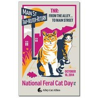 Mini Poster Print> National Feral Cat Day® 2014> Alley Cat Allies Online Store
