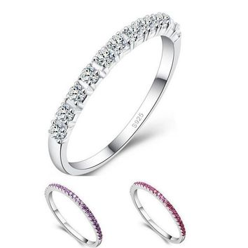 Wedding Rings for Women Topaze Mystique Girls Purple Red Simulated Diamond Ring Cool Jewelry Anillos Anel