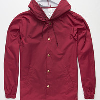 Standard Supply Slick Mens Windbreaker Cardinal  In Sizes