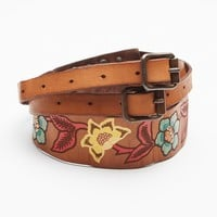 Free People Painted Leather Waist Belt