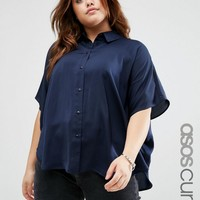 ASOS CURVE Soft Cocoon Shirt at asos.com