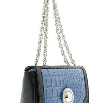 Versace EE1VOBBD4 EMGE Black/Blue Shoulder Bag