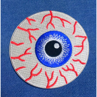 "Vintage ''Bloodshot Eyeball"" Embroidered Iron -On Patch 3''"