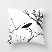 The Raven Throw Pillow by SSC Photography | Society6