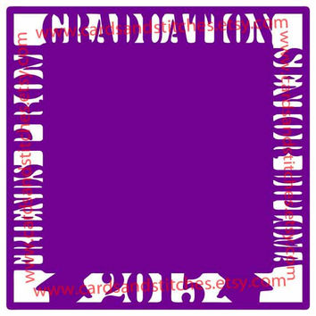 Graduation Scrapbook Page Digital Cutting File (SVG, DXF, JPG)