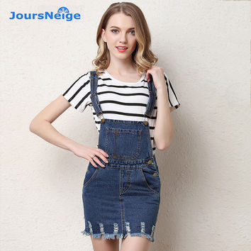 Jeans Skirts Womens 2017 Spring New Shorts Hole Tassel Suspenders Preppy Style High Waist Denim Short Skirt Feminine Mujer Short