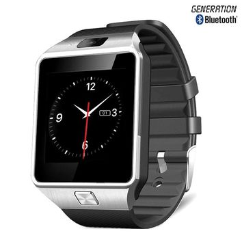 Bluetooth 3.0 Smart Watch with Silicone Strap