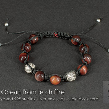 Red Ocean I tiger eye silver bracelet