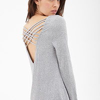 LOVE 21 Lattice Cutout Top